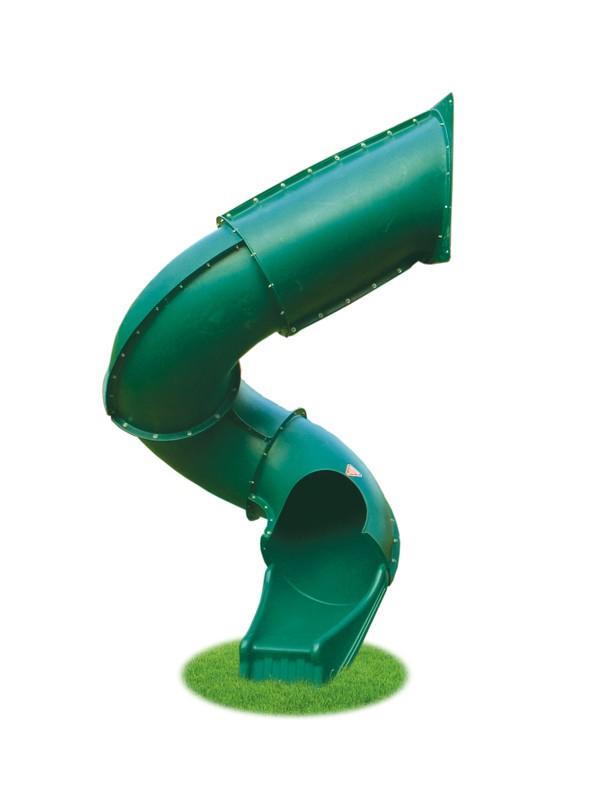 Spiral slide - playground equipment - slides - backyard play - swing sets - Jungle Gyms Canada