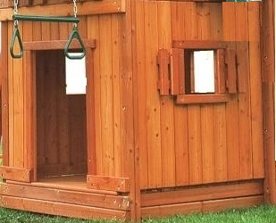 wooden bottom clubhouse for playground