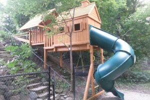 playground equipment - cedar playhouses - slides - playground installations - Jungle Gyms Canada