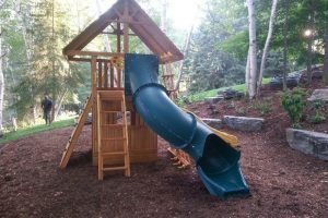 swing set - playground equipment - residential play set - backyard adventures - Jungle Gyms Canada