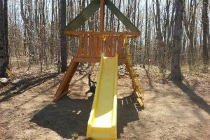 Swing Set - wooden playground equipment - supremescape -back yard play set - Jungle Gyms Canada