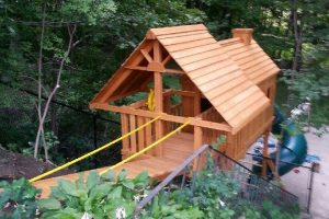 backyard swing set - residential playgrounds - wooden play sets - custom playground equipment - Jungle Gyms Canada
