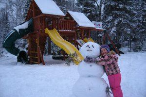 Snow Man Hugs