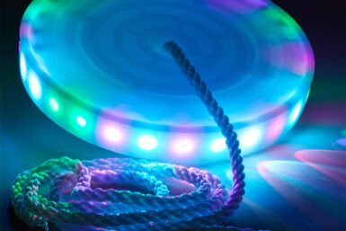 LED swing seat - swing sets - zip line - Jungle Gyms Canada - Zip Lines Canada