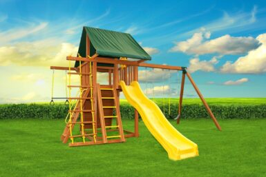 Dream 2 Swing Set - backyard playground - wooden play set - Jungle Gyms Canada