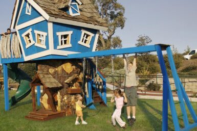Deluxe Monkey Mansion Backyard Treehouse - Jungle Gyms Canada