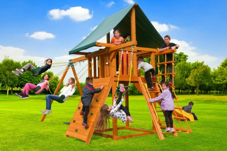 Dream Swing Set 2, backyard fun, residential play ground