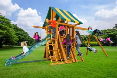 Dream Swing Set 4, backyard play, family fun