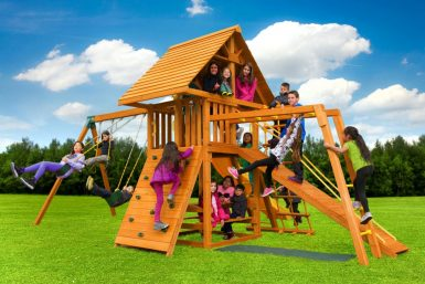 Dream Swing Set 6, backyard play set, residential playground, swing set