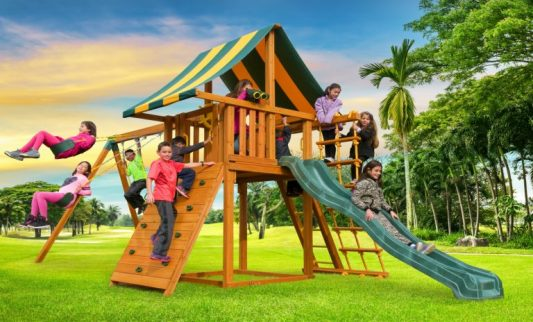Dream Swing Set - Backyard play set - residential playground - Jungle Gyms Canada