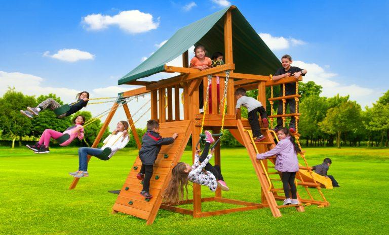 Dream 2 Swing Set - backyard jungle gym - wooden playset - Jungle Gyms Canada