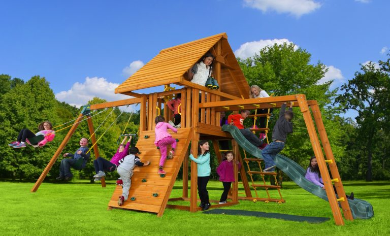 Dream 5 Swing Set - backyard jungle gym - residential play set - monkey bars - Jungle Gyms Canada