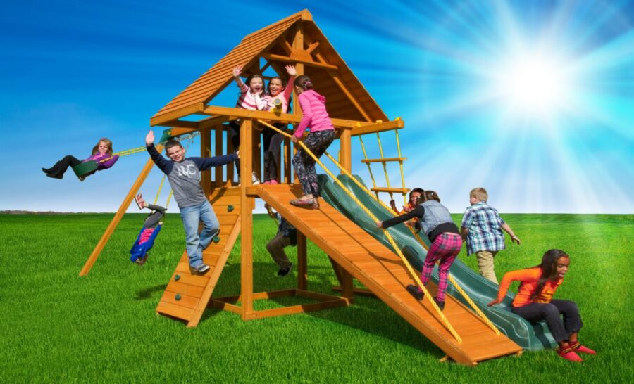 Dreamscape Swing Set #2, backyard playset, residential playground