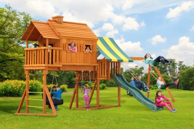 treehouse-swing set-backyard fun-family time-enjoy outdoors