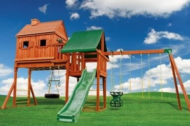 Wooden Playset - Backyard Swing Set - Fantasy Tree House 1 - Jungle Gyms Canada