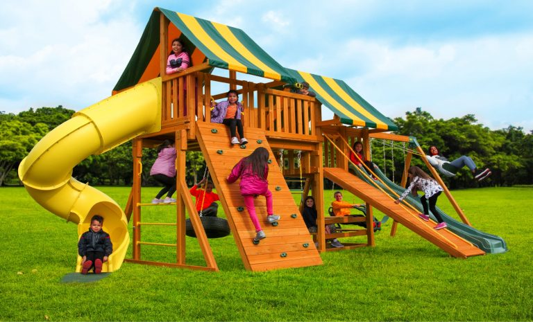 Fantasy 2 Swing Set-Jungle Gym - wooden back yard play set - Jungle Gyms Canada