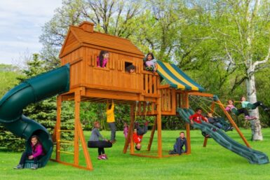 Fantasy Tree House 2 Swing Set - Backyard Playset - wooden swing set - Jungle Gyms Canada