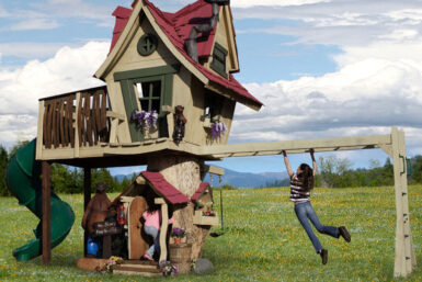 Monkey Mansion Tree House for Backyard Play- Jungle Gyms Canada