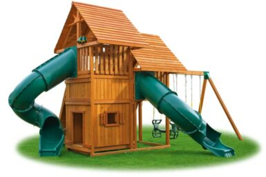 Sky Swing Set 6 Jungle Gym - Backyard cedar playset - Jungle Gyms Canada