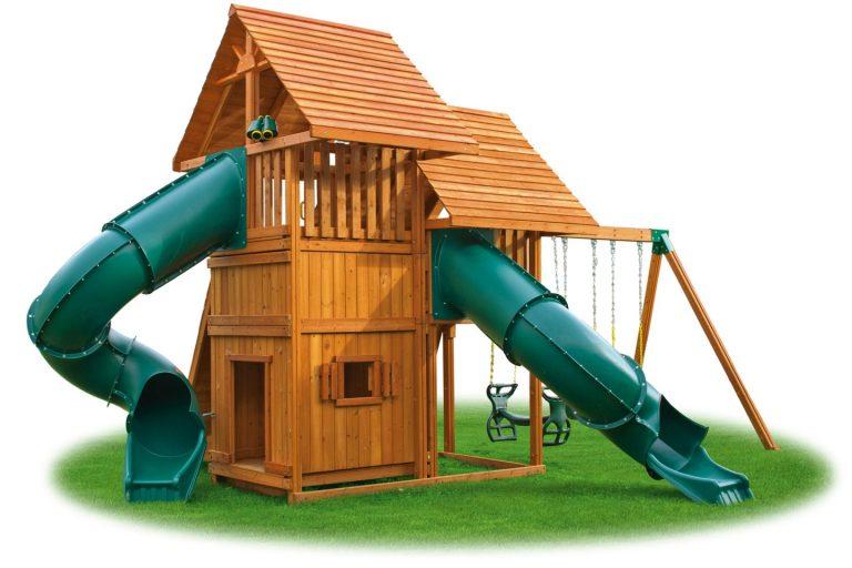 Sky Swing Set 6 Jungle Gym - Backyard cedar playset - Jungle Gyms Canada