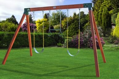 Cedar Classic Swing Set - Backyard swings - Jungle Gyms Canada
