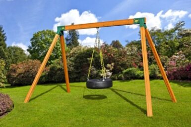 Cedar Classic Tire Swing Set - Backyard Play - Jungle Gyms Canada