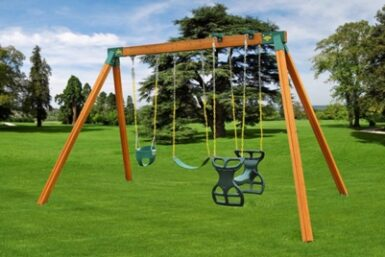 Classic Cedar Children's Swing Set - Jungle Gyms Canada