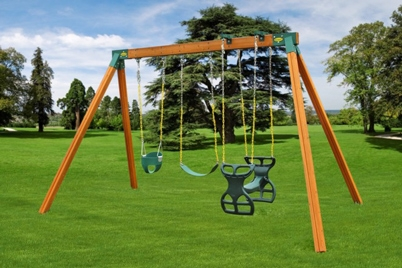Classic Cedar Children's Swing Set - Jungle Gyms Canada