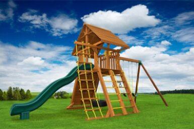 Extreme 6 Cedar Swing Set - Jungle Gyms Canada