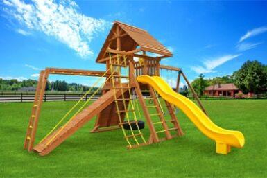 Extreme 7 Backyard Cedar Swing Set - Jungle Gyms Canada