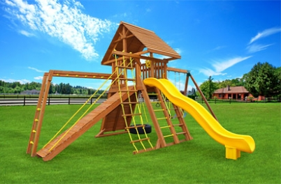 Extreme 7 Backyard Cedar Swing Set - Jungle Gyms Canada