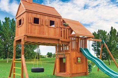 Backyard Playground - Fantasy Tree House 4 Swing Set - Jungle Gyms Canada