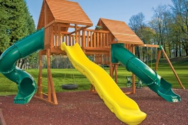Wooden Play Set - Fantasy 7 Swing Set - Jungle Gyms Canada