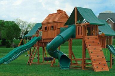 Wooden Swing Set - Imagination 2 Jungle Gym - Backyard playground - Jungle Gyms Canada