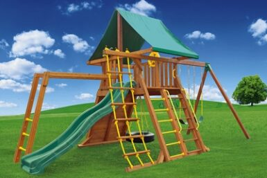 Supreme Swing Set 2 - cedar playset - Jungle Gyms Canada
