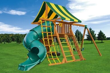 Wooden Swing Set - Supreme Swing Set 6 - Backyard Fun - Jungle Gyms Canada