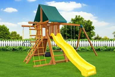 Wooden Swing Set - Supremescape 2 - Backyard Playgrounds - Jungle Gyms Canada