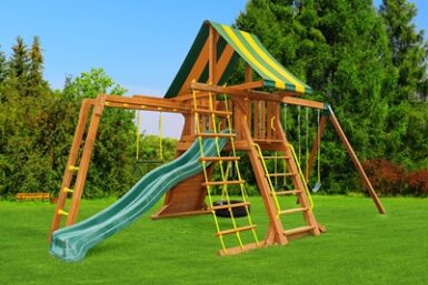 Wooden swing set - Supremescape 5 - Backyard Playgrounds - Jungle Gyms Canada