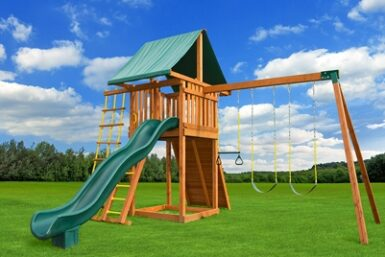 Ultimate Swing Set 2 - Back yard Cedar Play Set - Jungle Gyms Canada