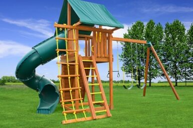 Cedar Swing Set - Ultimate swing set 4 - Jungle Gyms Canada