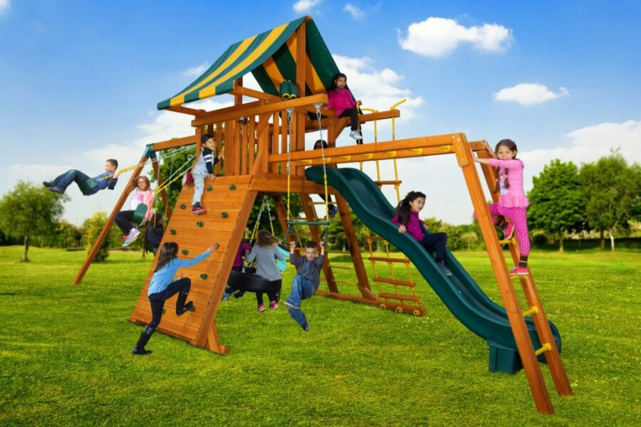 Customized Extreme Play Set with Monkey Bars, Accesory Arm and Extra Sling Swing