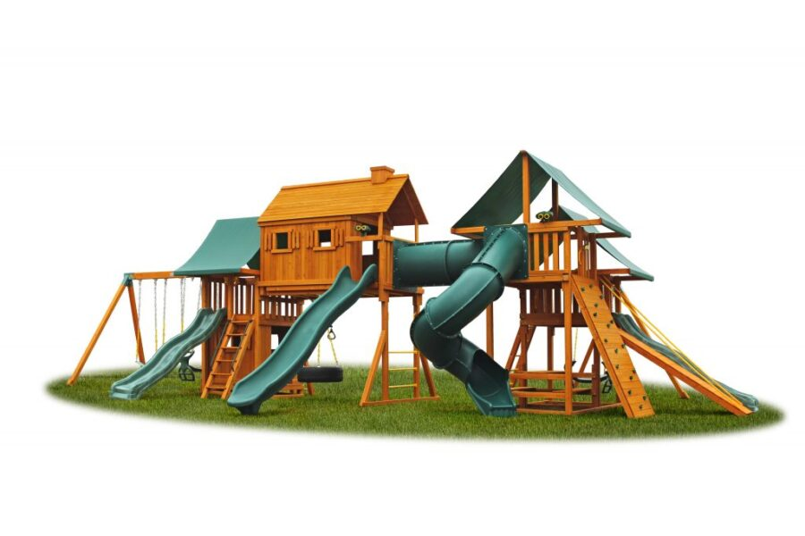 Imagination #4 with Gang Plank, Picnic Table, Bottom Clubhouse, Step Ladder and 14' Scoop Slide